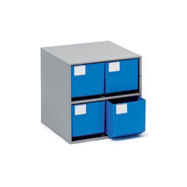 Treston Coloured Bin Cabinets,  Series 400 4 Piece Cabinet