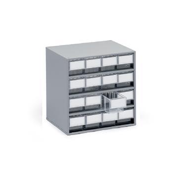 Treston Coloured Bin Cabinets, Series 300 16 Piece Cabinet
