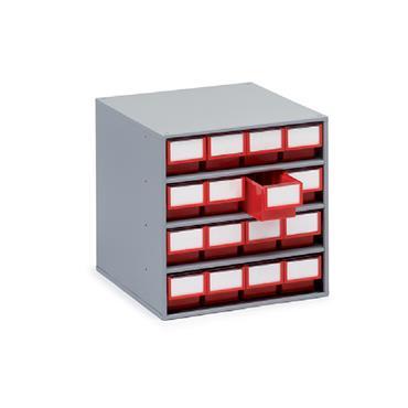 Treston Coloured Bin Cabinets,  Series 400 16 Piece Cabinet
