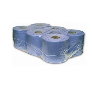 Centre Feed Blue Rolls, 60mm Core, Case/6