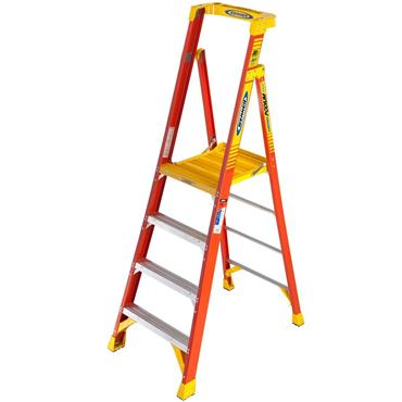 Werner 720 Series Fibreglass Platform Ladder