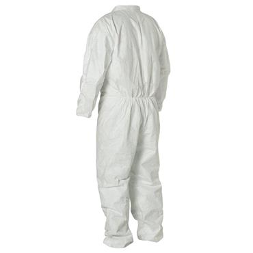 Heavy Duty Disposable Coverall w/ Collar and Elastic Cuffs & Back