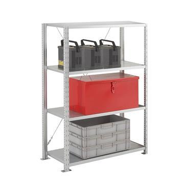 Heavy Duty Galvanised Shelving, 4 Shelf, 400mm Depth, 2250mm High
