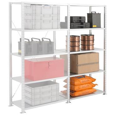 Heavy Duty Galvanised Shelving, 5 Shelf, 400mm Depth, 2000mm High