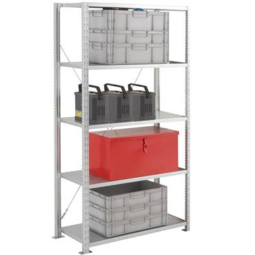 Heavy Duty Galvanised Shelving, 5 Shelf, 400mm Depth, 2250mm High