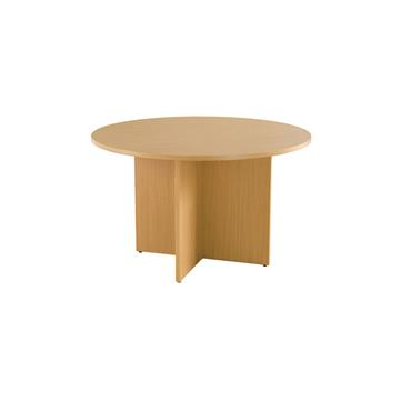 Beech Round Meeting Table 1200 x 730mm