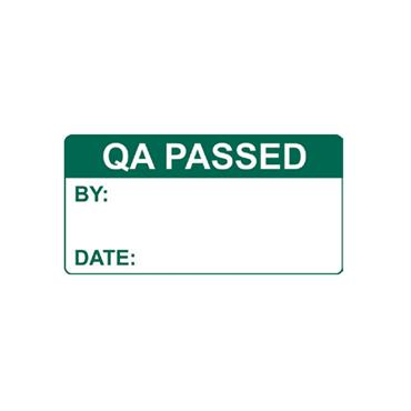 Quality Control Labels, QA Passed