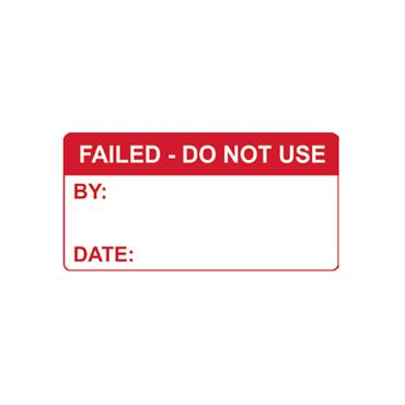 Quality Control Labels, Failed Do Not Use