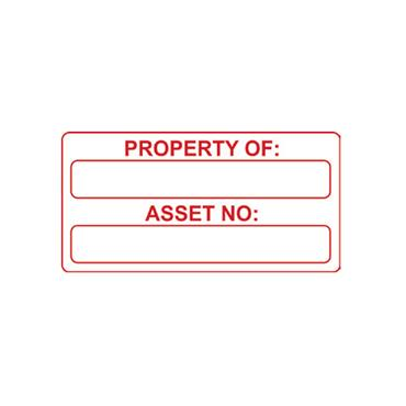 Quality Control Labels, Property Of / Asset No