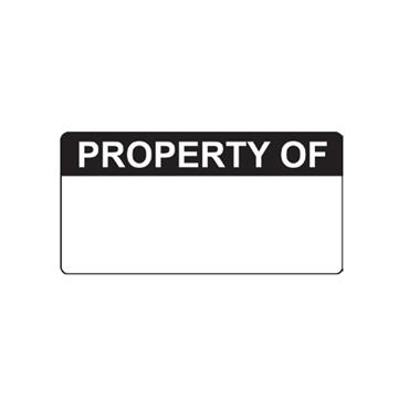Quality Control Labels, Property Of