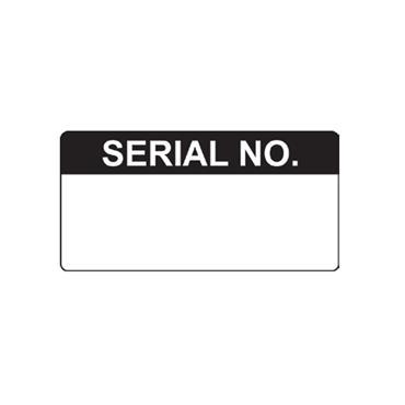 Quality Control Labels, Serial No