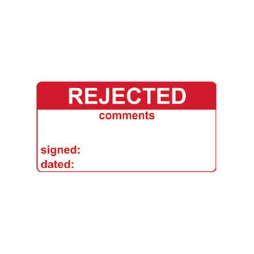 Quality Control Labels, Rejected