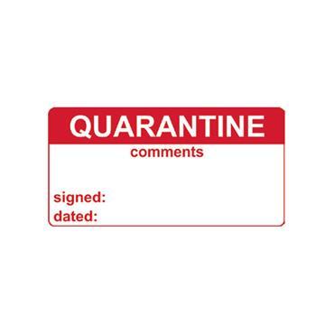 Quality Control Labels, Quarantine