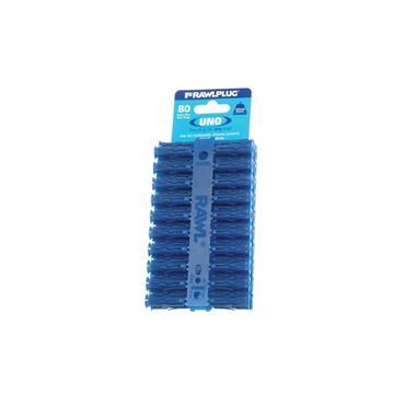 Rawlplug 68595 Uno Plugs Blue Card of 80
