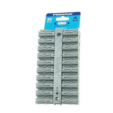 Rawlplug 68615 Uno Plugs Grey Card of 80