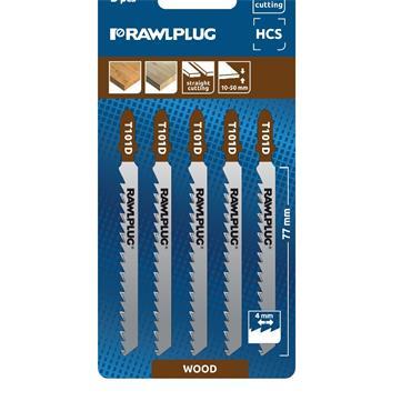 Rawlplug RT-JSB-W2MR RT-JSB-W2MR Jigsaw Blades For Laminate Cutting T Type, RTJSBW2MR (5 Pack)