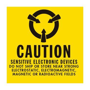 ESD Label Caution