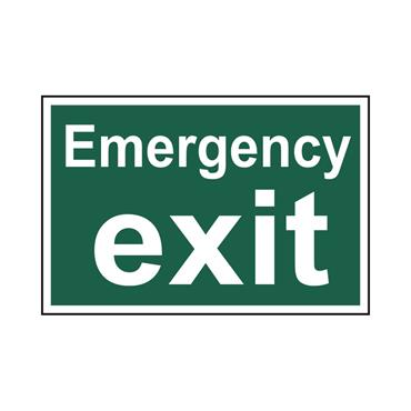 Safety Signs: Fire Safety & Safe Condition, Emergency Exit
