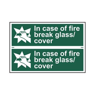 Safety Signs: Fire Safety & Safe Condition, Break Glass