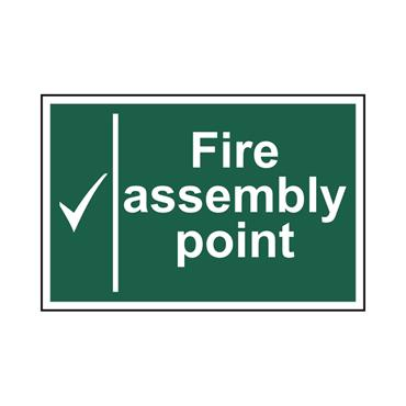 Safety Signs: Fire Safety & Safe Condition, Fire Assembly Point