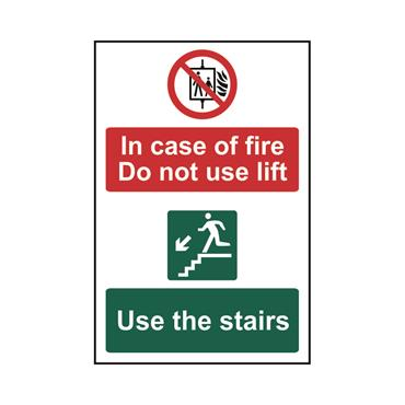 Safety Signs: Fire Safety & Safe Condition, Do Not Use Lift