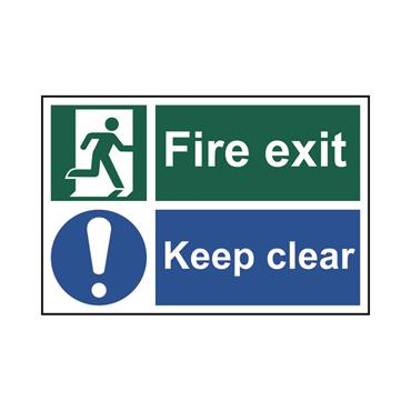 Safety Signs: Fire Safety & Safe Condition, Fire Exit Keep Clear