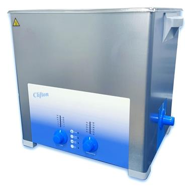 Clifton Range, SW12H 12 Litre Heated, Timed, Ultrasonic Baths, Drain Outlet