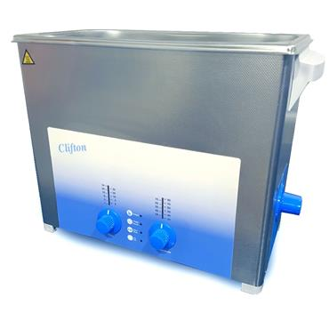 Clifton Range, SW6H 6 Litre Heated, Timed, Ultrasonic Bath, Drain Outlet