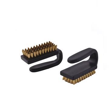"ESD 3""x1.5"" Curved handle Brush-Brass Bristles"