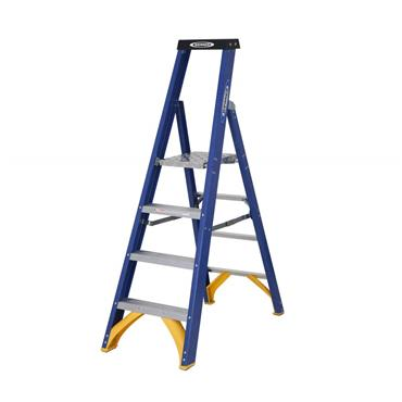 Werner 719 Fibreglass Platform Stepladder, 2 Step