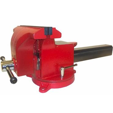 """Yost Vise 12"""" All Steel Utility Combination Pipe and Bench Vice, Red"""