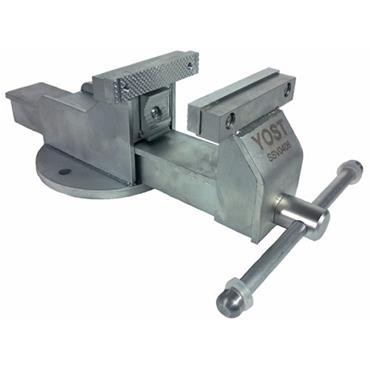 """Yost Vise 4"""" Stainless Steel Combination Pipe & Bench Vice, Stationary Base"""