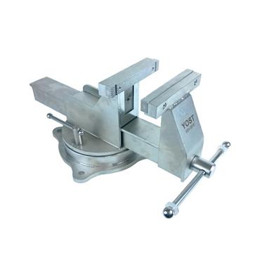 "Yost Vise, 6"" Stainless Steel Bench Vice, Swivel Base"