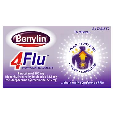 BENYLIN 4 FLU TABS 24PK