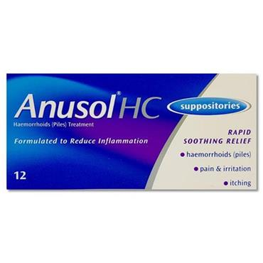 ANUSOL HC SUPPOSITORIES 12PK