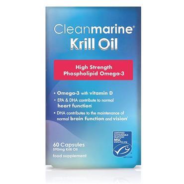 CLEANMARINE KRILL OIL CAPSULES 60PK