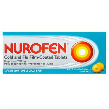 NUROFEN COLD AND FLU TABS 24PK