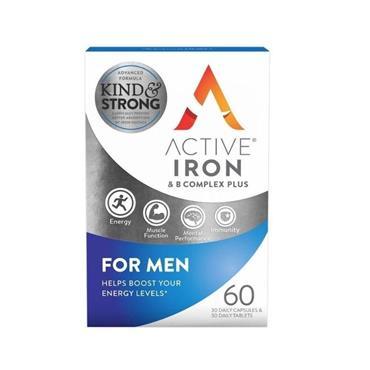 ACTIVE IRON + B COMPLEX FOR MEN 30PK