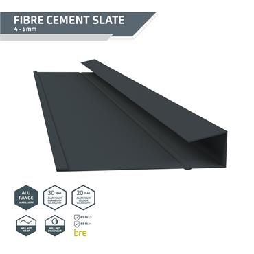 Slate Dry Verge Alu. (T1) 18mm Black