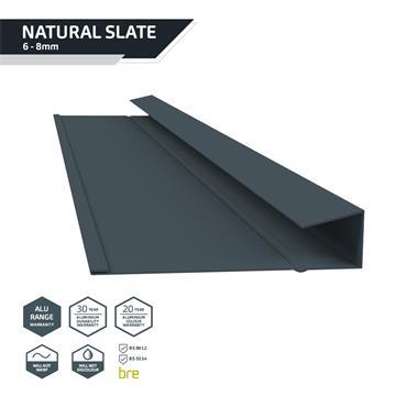 Slate Dry Verge Alu. (T1) 25mm Blue/Black