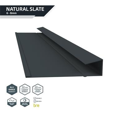 Slate Dry Verge Alu. (T1) 25mm Black