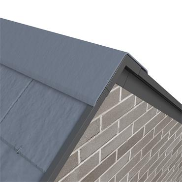 Slate Dry Verge Apex Unit Alu. 25mm (105 deg) Black