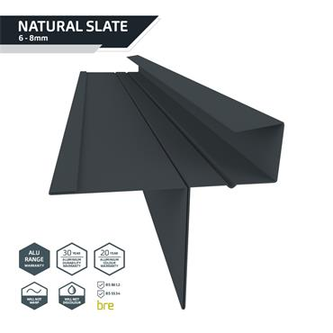 Slate Dry Verge Alu. (T2) 25mm Black