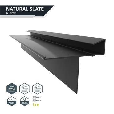 Slate Dry Verge (T2) PVC 25mm Black