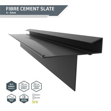 Slate Dry Verge (T2) PVC 18mm Black