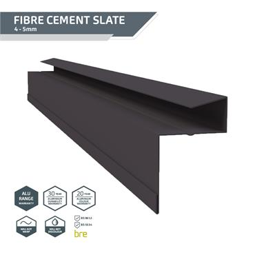 Retro-Fit Slate Dry Verge Alu. 18mm Black