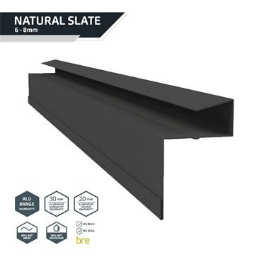 Retro-Fit Slate Dry Verge Alu. 25mm Black