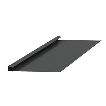 Natural Valley Slate Trim Alu. Black 2.4m