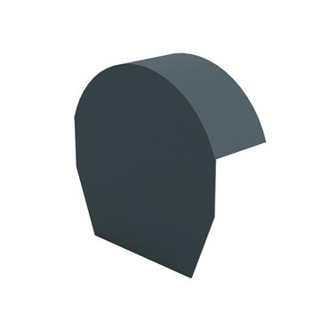 Tile Dry Verge Apex Unit Half Round Blue/ Black