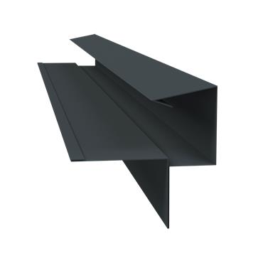 Tile Dry Verge System Alu. 55mm (T2) Black 2.4m